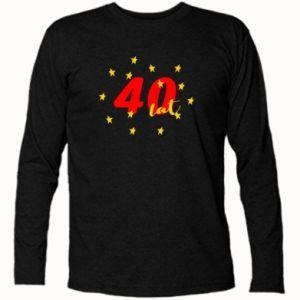 Koszulka z długim rękawem 40 lat, z gwiazdami
