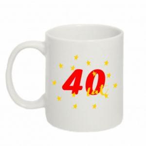 Kubek 330ml 40 lat, z gwiazdami