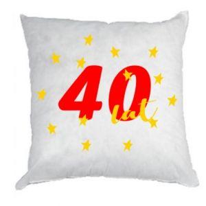 Poduszka 40 lat, z gwiazdami