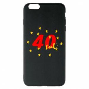 Etui na iPhone 6 Plus/6S Plus 40 lat, z gwiazdami