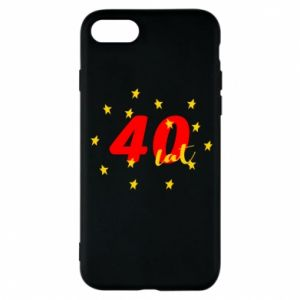 Etui na iPhone 8 40 lat, z gwiazdami