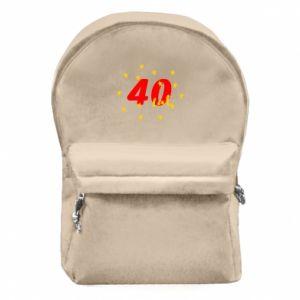 Plecak z przednią kieszenią 40 lat, z gwiazdami