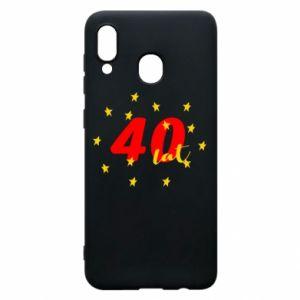 Etui na Samsung A20 40 lat, z gwiazdami