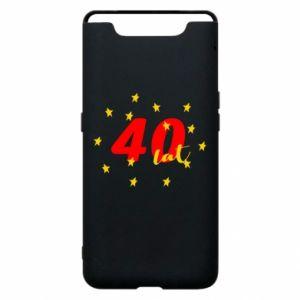 Etui na Samsung A80 40 lat, z gwiazdami