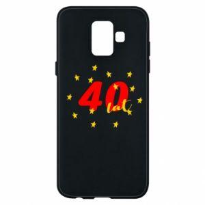 Etui na Samsung A6 2018 40 lat, z gwiazdami