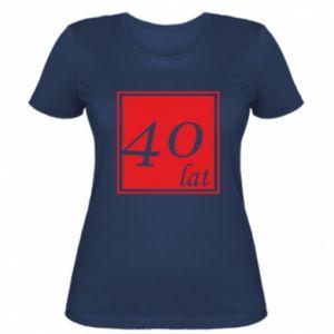Damska koszulka 40 lat