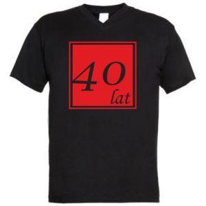 Męska koszulka V-neck 40 lat