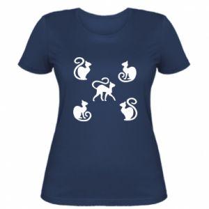 Damska koszulka 5 kotów