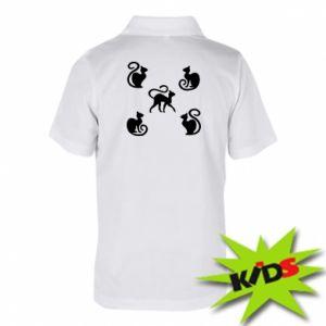 Dziecięca koszulka polo 5 kotów