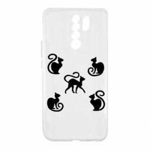 Etui na Xiaomi Redmi 9 5 kotów