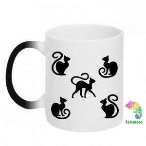 Kubek-kameleon 5 kotów
