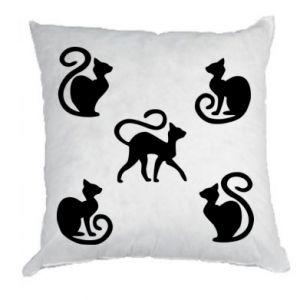 Poduszka 5 kotów