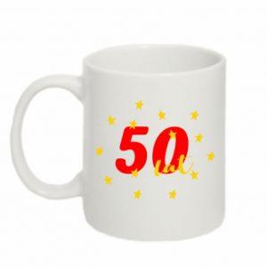 Kubek 330ml 50 lat, z gwiazdami