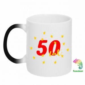 Kubek-kameleon 50 lat, z gwiazdami