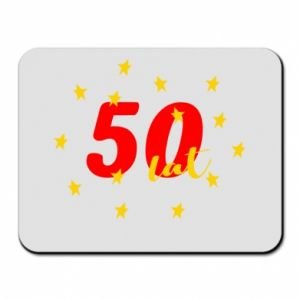 Mouse pad 50 years, with stars