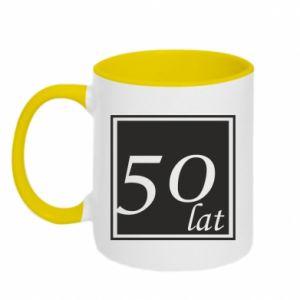 Kubek dwukolorowy 50 lat