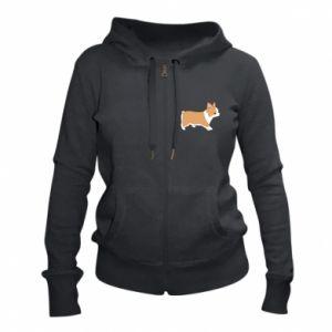 Women's zip up hoodies Corgi en route
