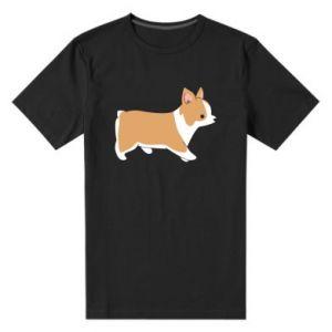 Męska premium koszulka Corgi w drodze