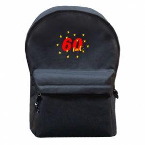 Plecak z przednią kieszenią 60 lat, z gwiazdami
