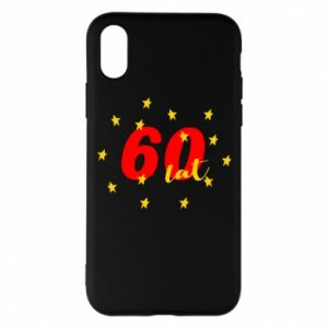 Etui na iPhone X/Xs 60 lat, z gwiazdami