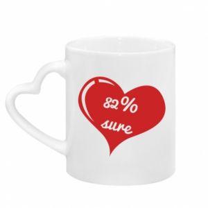 Kubek z uchwytem w kształcie serca 82% sure