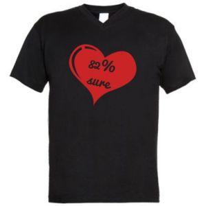 Koszulka V-neck męska 82% sure