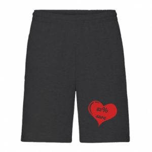 Men's shorts 82% sure