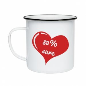Enameled mug 82% sure