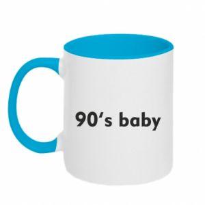 Kubek dwukolorowy 90's baby