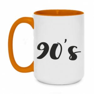 Two-toned mug 450ml 90's