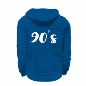 Kid's zipped hoodie % print% 90's