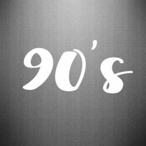 Naklejka 90's