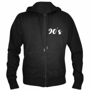 Men's zip up hoodie 90's