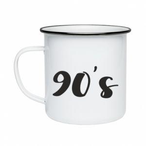 Kubek emaliowane 90's