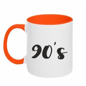 Two-toned mug 90's