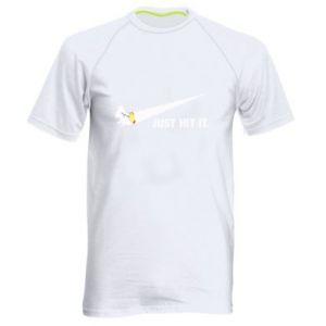 Męska koszulka sportowa Roll-up white