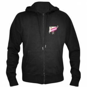 Men's zip up hoodie Cake welcomes - PrintSalon