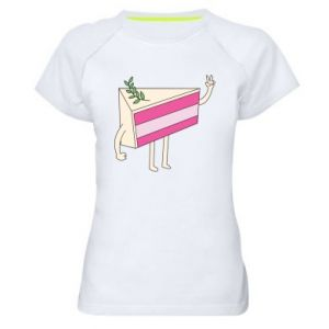 Women's sports t-shirt Cake welcomes - PrintSalon