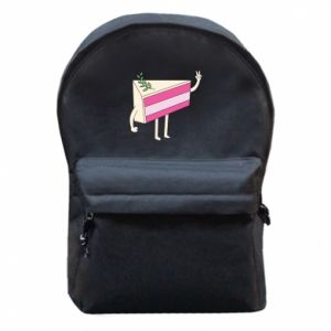 Backpack with front pocket Cake welcomes - PrintSalon