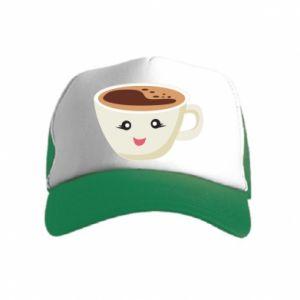 Czapka trucker dziecięca A cup of coffee