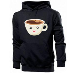 Men's hoodie A cup of coffee