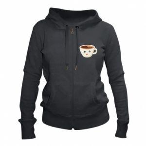 Women's zip up hoodies A cup of coffee - PrintSalon