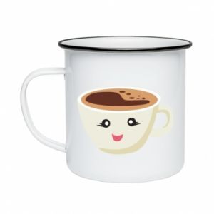 Kubek emaliowany A cup of coffee
