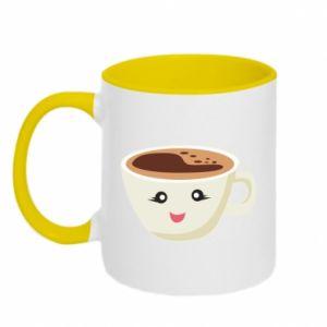 Two-toned mug A cup of coffee - PrintSalon