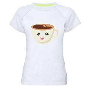 Koszulka sportowa damska A cup of coffee