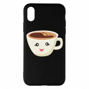 Etui na iPhone X/Xs A cup of coffee