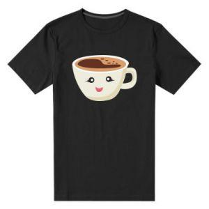 Męska premium koszulka A cup of coffee