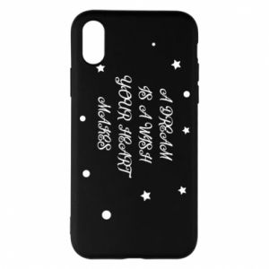 Phone case for iPhone X/Xs A dream is a wish your heart makes, for her