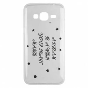 Phone case for Samsung J3 2016 A dream is a wish your heart makes, for her