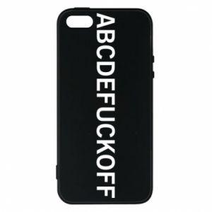 Etui na iPhone 5/5S/SE Abcdefuckoff